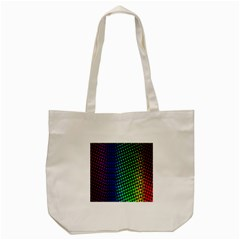 Digitally Created Halftone Dots Abstract Tote Bag (cream) by Nexatart