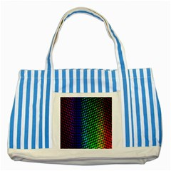 Digitally Created Halftone Dots Abstract Striped Blue Tote Bag by Nexatart