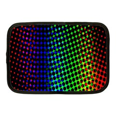 Digitally Created Halftone Dots Abstract Netbook Case (medium)