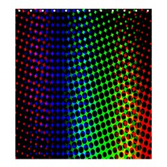 Digitally Created Halftone Dots Abstract Shower Curtain 66  X 72  (large)  by Nexatart