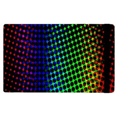 Digitally Created Halftone Dots Abstract Apple Ipad 2 Flip Case by Nexatart