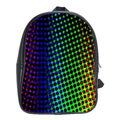 Digitally Created Halftone Dots Abstract School Bags (xl)  by Nexatart