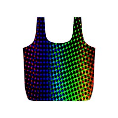 Digitally Created Halftone Dots Abstract Full Print Recycle Bags (s)  by Nexatart