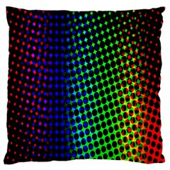 Digitally Created Halftone Dots Abstract Large Flano Cushion Case (two Sides) by Nexatart