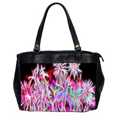 Fractal Fireworks Display Pattern Office Handbags (2 Sides)  by Nexatart