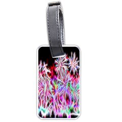 Fractal Fireworks Display Pattern Luggage Tags (one Side)  by Nexatart