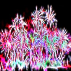 Fractal Fireworks Display Pattern Magic Photo Cubes by Nexatart