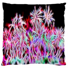 Fractal Fireworks Display Pattern Large Cushion Case (two Sides) by Nexatart