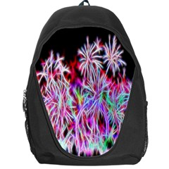Fractal Fireworks Display Pattern Backpack Bag