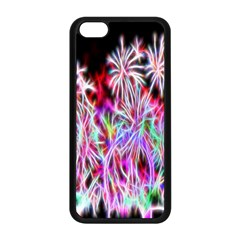 Fractal Fireworks Display Pattern Apple Iphone 5c Seamless Case (black)