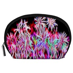 Fractal Fireworks Display Pattern Accessory Pouches (large)  by Nexatart