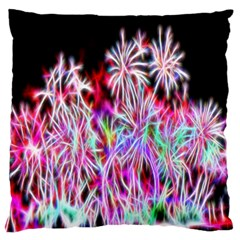 Fractal Fireworks Display Pattern Large Flano Cushion Case (two Sides) by Nexatart