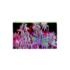 Fractal Fireworks Display Pattern Cosmetic Bag (xs) by Nexatart