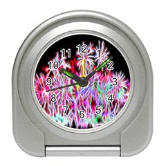 Fractal Fireworks Display Pattern Travel Alarm Clocks by Nexatart