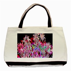 Fractal Fireworks Display Pattern Basic Tote Bag by Nexatart