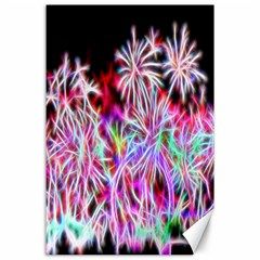 Fractal Fireworks Display Pattern Canvas 24  X 36  by Nexatart
