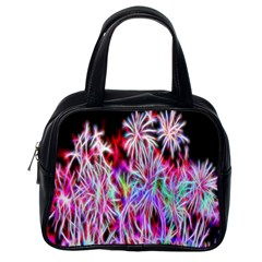 Fractal Fireworks Display Pattern Classic Handbags (one Side) by Nexatart