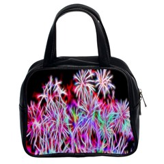 Fractal Fireworks Display Pattern Classic Handbags (2 Sides) by Nexatart