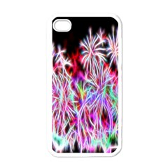 Fractal Fireworks Display Pattern Apple Iphone 4 Case (white) by Nexatart