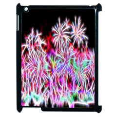Fractal Fireworks Display Pattern Apple Ipad 2 Case (black)