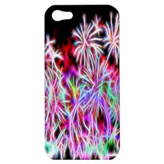 Fractal Fireworks Display Pattern Apple Iphone 5 Hardshell Case by Nexatart