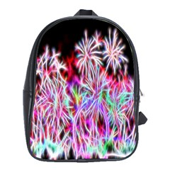 Fractal Fireworks Display Pattern School Bags (xl)  by Nexatart