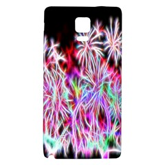 Fractal Fireworks Display Pattern Galaxy Note 4 Back Case by Nexatart