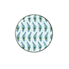 Background Of Beautiful Peacock Feathers Hat Clip Ball Marker (4 Pack) by Nexatart