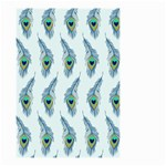 Background Of Beautiful Peacock Feathers Small Garden Flag (Two Sides) Front