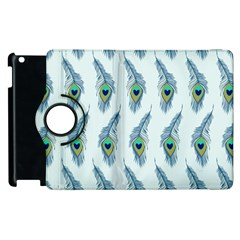 Background Of Beautiful Peacock Feathers Apple Ipad 3/4 Flip 360 Case by Nexatart