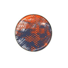 Dark Blue Red And White Messy Background Hat Clip Ball Marker by Nexatart