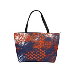 Dark Blue Red And White Messy Background Shoulder Handbags