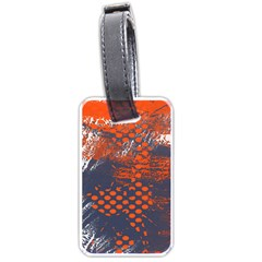 Dark Blue Red And White Messy Background Luggage Tags (two Sides)