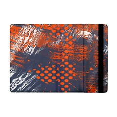 Dark Blue Red And White Messy Background Apple Ipad Mini Flip Case by Nexatart