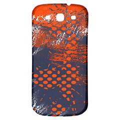 Dark Blue Red And White Messy Background Samsung Galaxy S3 S Iii Classic Hardshell Back Case by Nexatart
