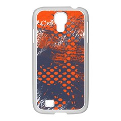 Dark Blue Red And White Messy Background Samsung Galaxy S4 I9500/ I9505 Case (white)