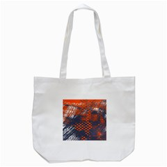 Dark Blue Red And White Messy Background Tote Bag (white) by Nexatart