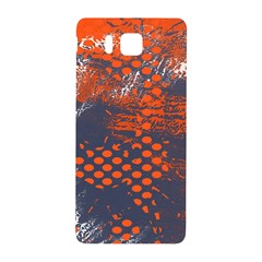 Dark Blue Red And White Messy Background Samsung Galaxy Alpha Hardshell Back Case by Nexatart