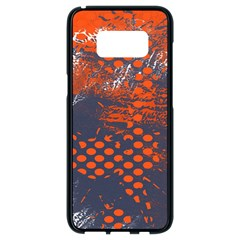 Dark Blue Red And White Messy Background Samsung Galaxy S8 Black Seamless Case