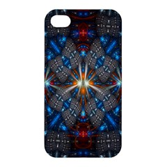 Fancy Fractal Pattern Background Accented With Pretty Colors Apple Iphone 4/4s Premium Hardshell Case by Nexatart