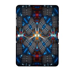 Fancy Fractal Pattern Background Accented With Pretty Colors Samsung Galaxy Tab 2 (10 1 ) P5100 Hardshell Case