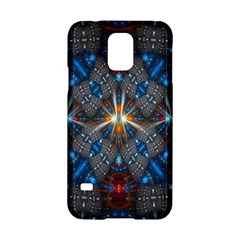 Fancy Fractal Pattern Background Accented With Pretty Colors Samsung Galaxy S5 Hardshell Case  by Nexatart