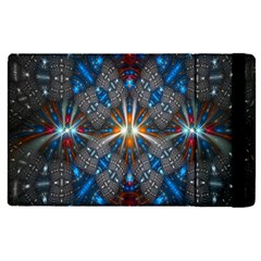 Fancy Fractal Pattern Background Accented With Pretty Colors Apple Ipad Pro 9 7   Flip Case