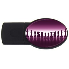 Chess Pieces Usb Flash Drive Oval (4 Gb)