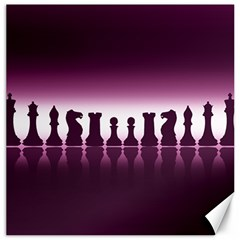 Chess Pieces Canvas 16  X 16   by Valentinaart