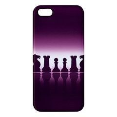 Chess Pieces Apple Iphone 5 Premium Hardshell Case by Valentinaart