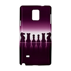 Chess Pieces Samsung Galaxy Note 4 Hardshell Case by Valentinaart