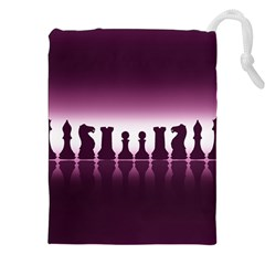 Chess Pieces Drawstring Pouches (xxl) by Valentinaart