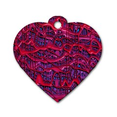 Plastic Mattress Background Dog Tag Heart (one Side)