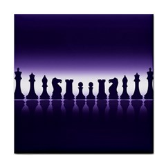 Chess Pieces Tile Coasters by Valentinaart